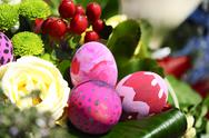 Stock Photo of some decorated easter eggs