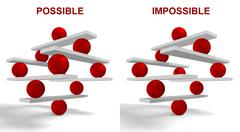 Possible and impossible Stock Illustration