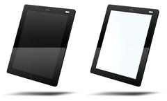 tablet pc template - stock illustration
