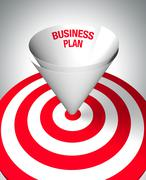winning business plan - stock illustration