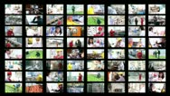 People at Work Stock Footage
