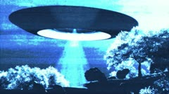 Ufo Scanning on Earth Stock Footage