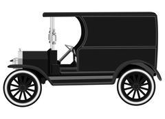 antique car - stock illustration