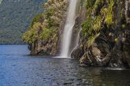Stock Photo of waterfall doubtful sounds