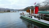 Lady of the lake ullswater steamer in winter Stock Footage