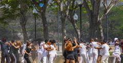 Dancing in havana Stock Photos