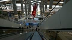 Air Terminal Escalator Stock Footage