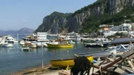 Stock Video Footage of Boats in Harbor in Capri Italy