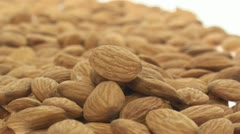 Multiple almonds zoom in - stock footage
