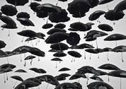 Umbrella rain Stock Illustration