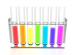 Rainbow retorts - stock illustration