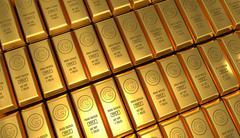 Golden bars background Stock Illustration