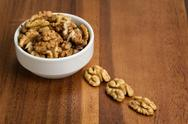 Stock Photo of walnuts in bowl
