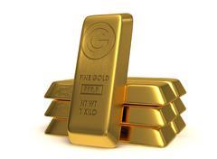 Golden bars Stock Illustration