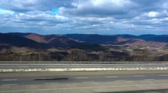Mountains of Tennessee at Jellico Interstate 75 HD Stock Footage