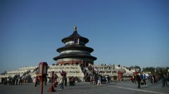 Temple of Heaven in Beijing.China's royal ancient architecture. Stock Footage