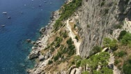 Stock Video Footage of Looking from hill on Capri