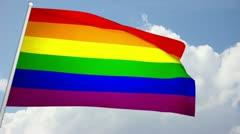 Gay Flag 03 Stock Footage