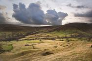 Kinder low and brown knoll in peak district national park Stock Photos