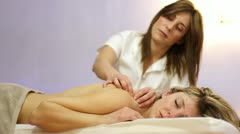 spa, relaxing massage - stock footage