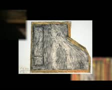 Art, Outsider Art - Art Brut montage of pictures from Joseph Hofer Stock Footage