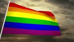 Gay Flag 02 Stock Footage