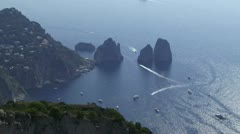 Vista over Capri - stock footage