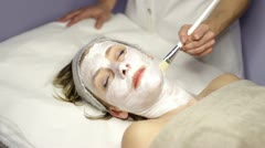Facial massage - spa Stock Footage