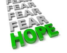 Stock Illustration of hope overcomes fear