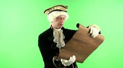 Colonial man speech Stock Footage