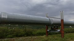 Alaska Pipeline Pan Right Stock Footage