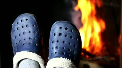 Feet are burning. Stock Footage