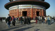 Temple of Heaven in Beijing.China's royal ancient architecture.Stone railings. Stock Footage