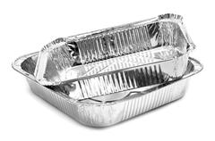 aluminium foil trays - stock photo