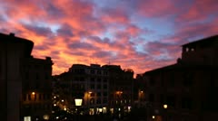 Stock Video Footage of Romantic sunset in Rome.