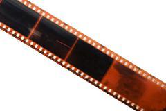 straight film strip isolated - stock photo
