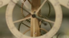 Macro of an antique clock of 1700 Stock Footage