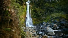 1920x1080 video - small waterfall in the rainforest - stock footage