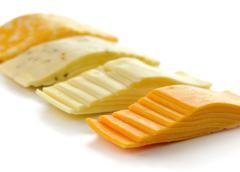 cheese slices - stock photo