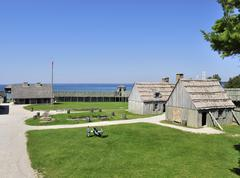 Stock Photo of colonial fort michilimackinac