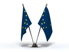 Miniature flag of alaska (isolated) Stock Illustration