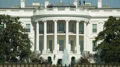 White House in Washington D.C.  U.S. president Stock Footage