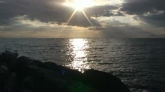 Sunbeams on the sea 2 Stock Footage