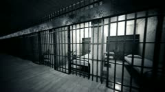 Infinite prison cells looped animation. Stock Footage