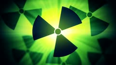 Nuclear sign warning animation. - stock footage