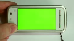Smartphone Green - stock footage