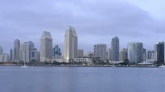 Stock Video Footage of Time Lapse of San Diego Bay and City
