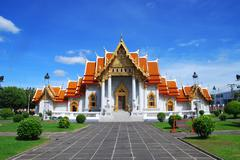 The marble temple in thailand name watbencha Stock Photos