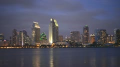 Time Lapse of San Diego Bay and City Stock Footage