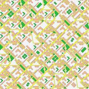 Abstract map of city - seamless background Stock Illustration